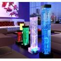LAMPARA LED CON BURBUJAS DE AGUA E ILUMINACION LED 45cm