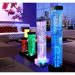 LAMPARA LED CON BURBUJAS DE AGUA E ILUMINACION LED 80 cm