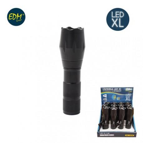 LINTERNA ZOOM EXTENSIBLE 1 LED XL 3W 140LM