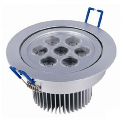 Downlight de LED high power epistar Circular 7W 700Lm