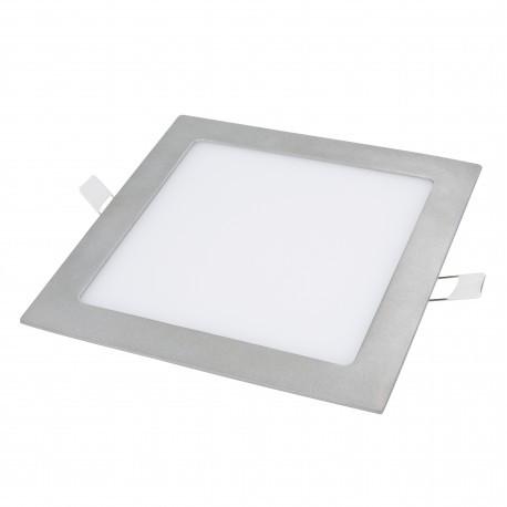 Downlight LEDs Cuadrada gris plata 220mm 18W 1380Lm