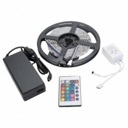 Kit de Tira de 36W RGB en Blister con Transformador, Controlador y Mando Distancia INTERIOR IP25