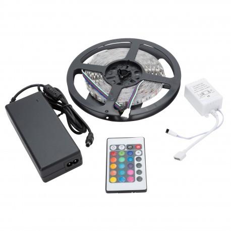 Kit de Tira de 36W RGB en Blister con Transformador, Controlador y Mando Distancia INTERIOR IP65