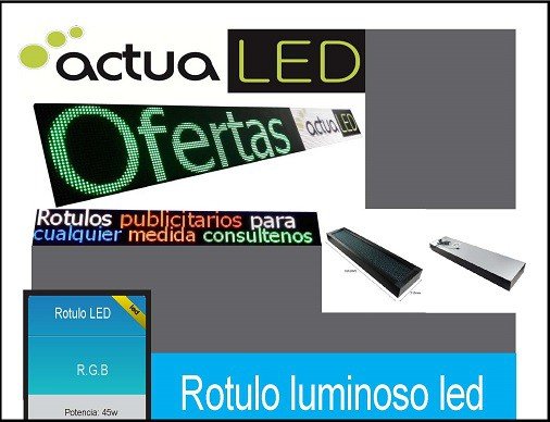 rotulo luminoso led